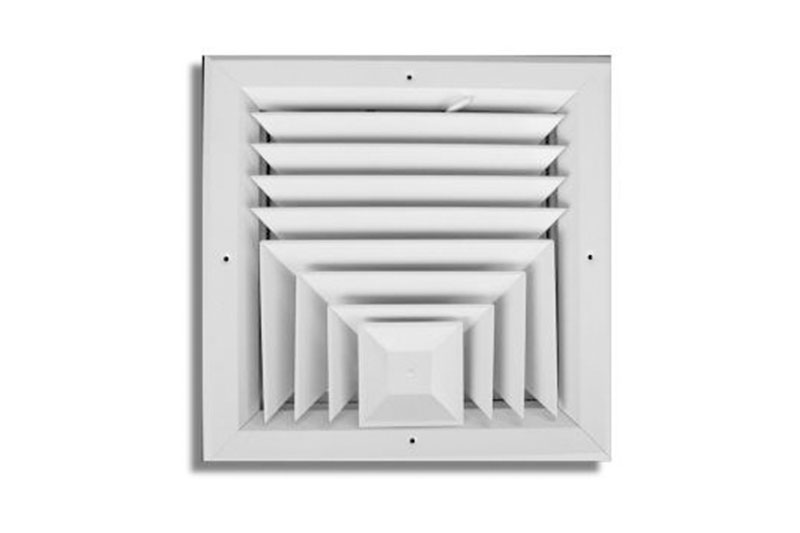 Aluminum 3-way Ceiling Diffuser