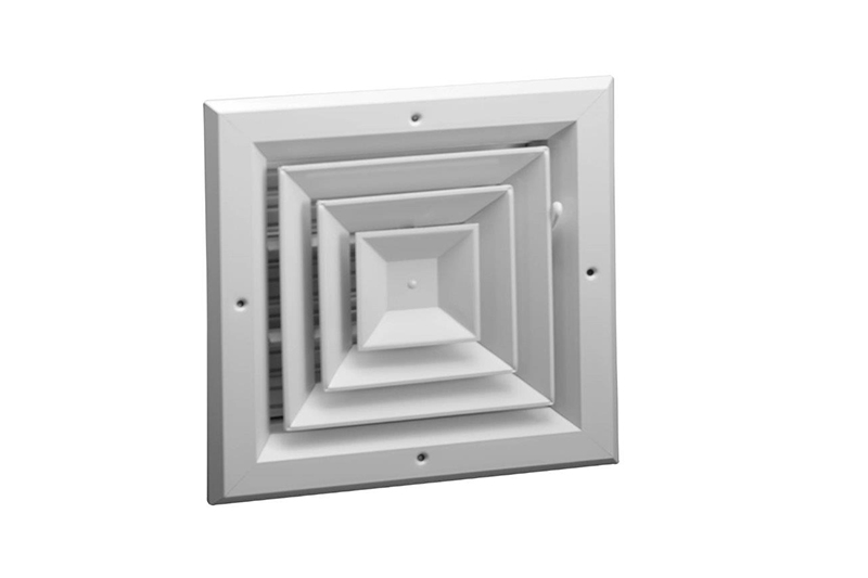 Aluminum 4-way Ceiling Diffuser