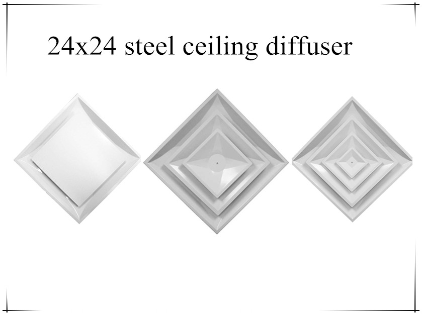 24x24 stell ceiling diffuser