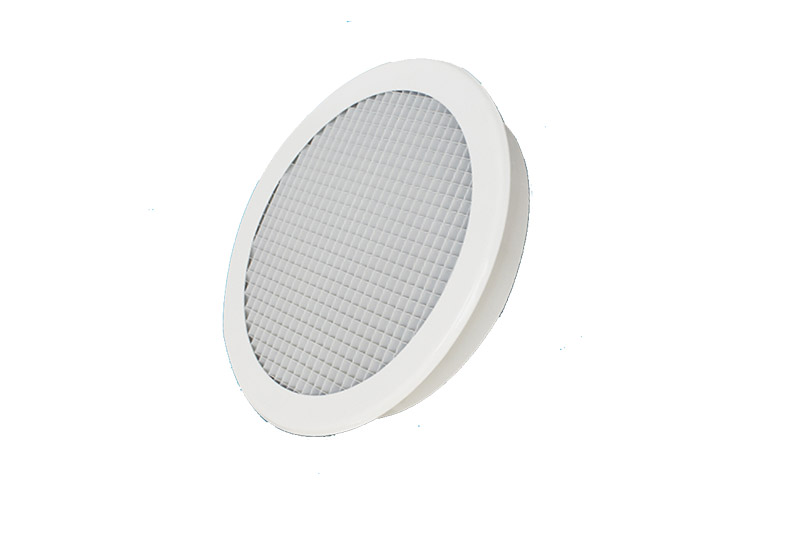 Round aluminum egg crate gille soffit vents