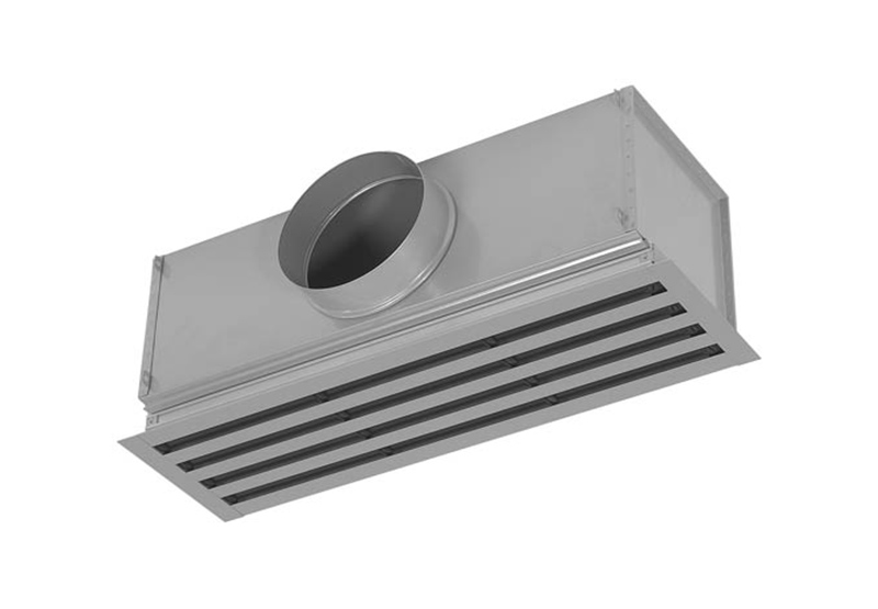 Hvac System Linear Diffuser With Plenum Box Insulation